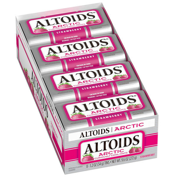 Altoids 알토이즈 아틱 딸기 민트 8팩 34g 스트로베리 상품이미지