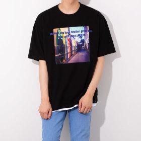 빅사이즈 리얼 오버핏 남자 반팔티 / 티셔츠 GT3157