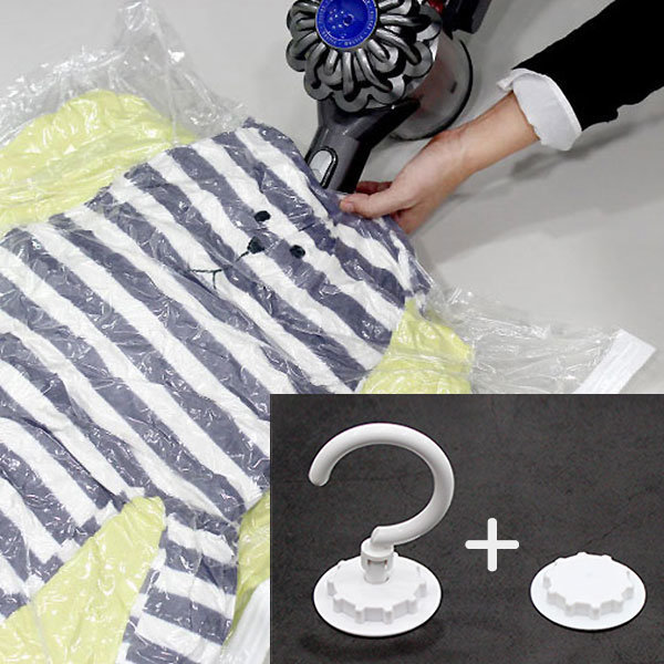 옷걸이 압축팩 이불의류패딩 겨울옷정리 대형 6장 상품이미지