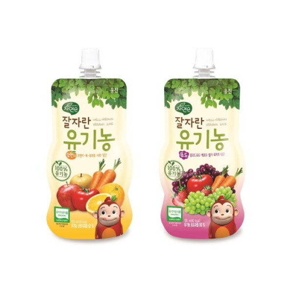웅진식품  자연은 잘자란 유기농 오렌지/포도 100ml x20팩 상품이미지
