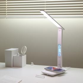 무선충전 시계 LED 스탠드 달력/온도