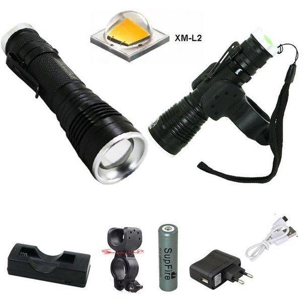 LED 충전식 자전거 라이트 전조등 랜턴 손전등 DHH8 상품이미지