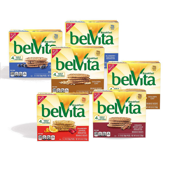 belVita  벨비타 블랙퍼스트 비스켓 50 g x 5개 x 6종 상품이미지