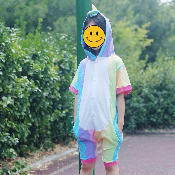 반팔잠옷 캐릭터동물잠옷 여름잠옷 반티 플란넬 유니콘 상품이미지
