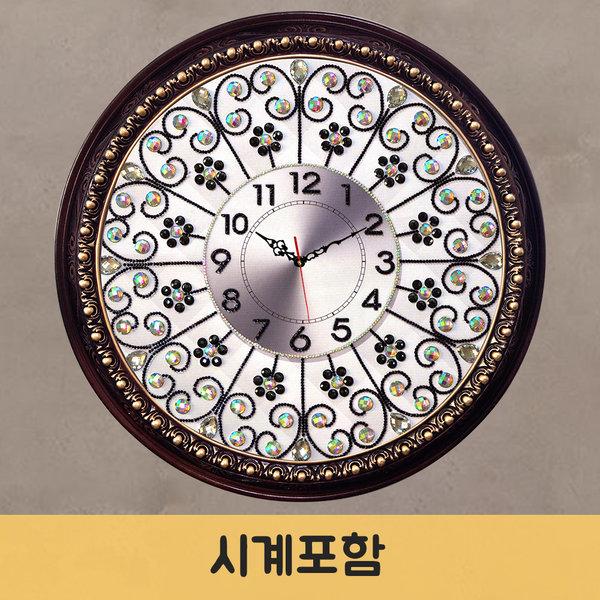 보석십자수시계패키지/나비꽃시계-레무스 모든재료포함 상품이미지