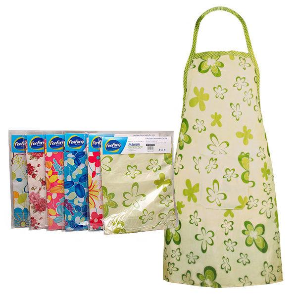SM 방수 앞치마 색랜덤 / 주방 욕실 꽃무늬 우레탄 상품이미지