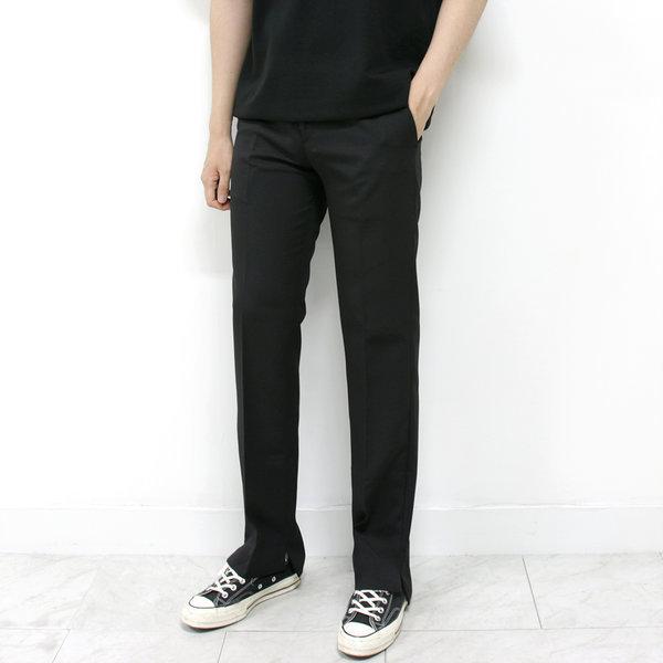남자 트임 와이드 슬랙스 검정 베이지 회색 28~36 상품이미지