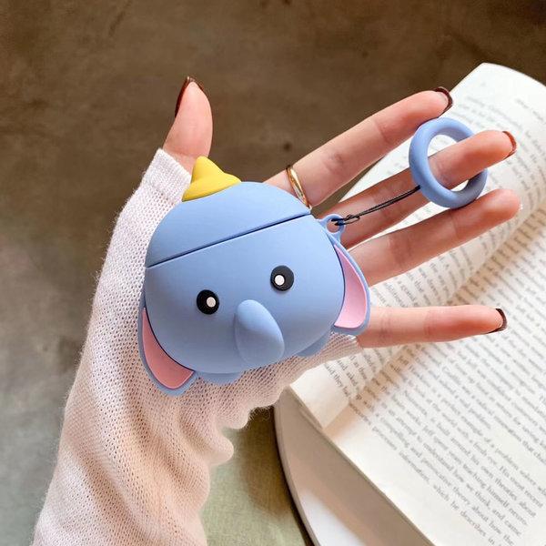 에어팟 1 2세대 귀여운 동물 아기 코끼리 케이스 키링 상품이미지