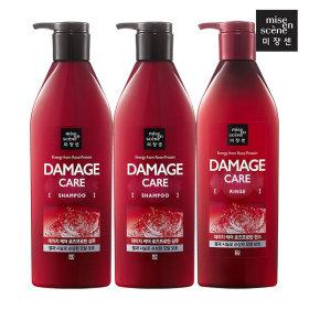 mise en scene Damage Care Shampoo 680ml X 2pcs + Conditioner 680ml