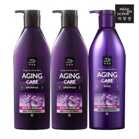 mise?en scene Aging Care Shampoo 680ml x2pcs + Rinse 680ml