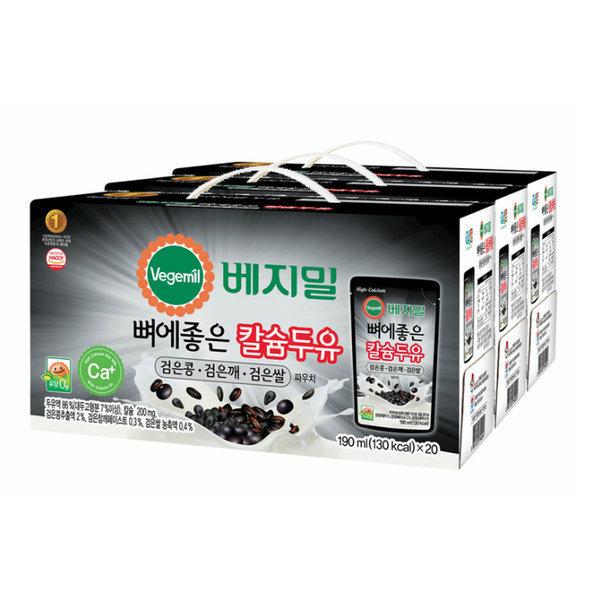 베지밀 검은콩 깨 쌀 두유 190mlx20x3박스 상품이미지