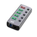 USB3.0 허브 멀티 5포트 유전원 분배기 PC 확장 연결