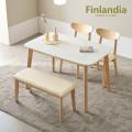 핀란디아 데니스 4인대리석식탁세트(의자2벤치1) 무배