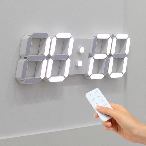 3D LED 벽시계 빅플러스 화이트 상품이미지