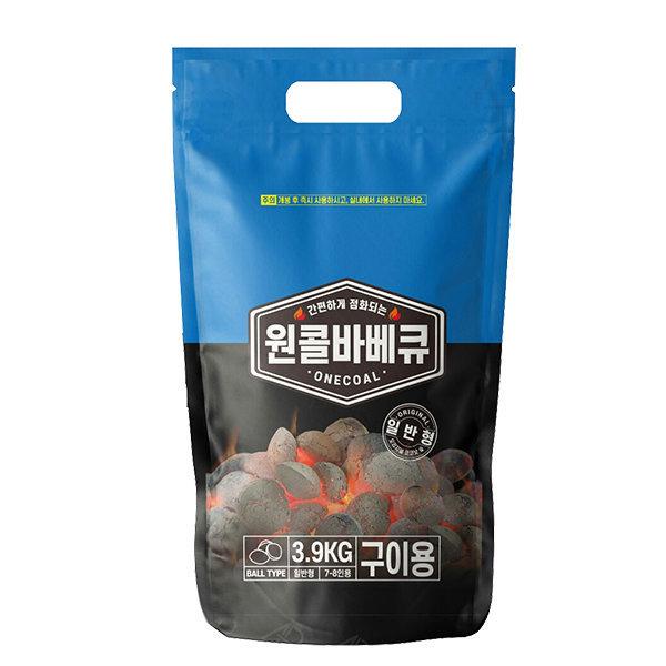 원콜오리지널3.9kg 바베큐숯 바베큐그릴 착화탄 차콜 상품이미지