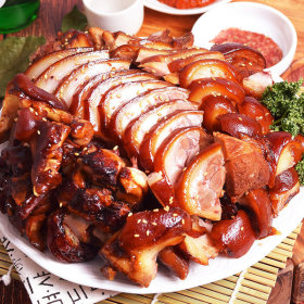 야식 재구매율 1위 흑마늘 왕족발 1kg