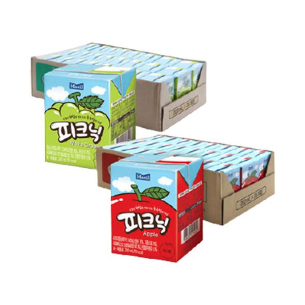 피크닉 사과 + 청포도 200ml 각 24팩 (총 48팩) 상품이미지