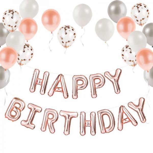 (현대Hmall) 파티팡 로즈골드 생일풍선 파티세트 해피벌스데이  partypang 바보사랑 상품이미지