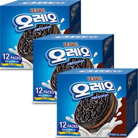 오레오 초콜릿 샌드위치 초코크림 600gX3개/과자/간식