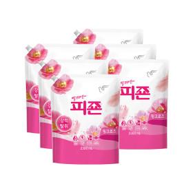 피죤 섬유유연제 2300ml 6개 핑크로즈 +사은품