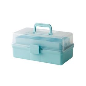 3단 다용도 수납박스 블루 1개