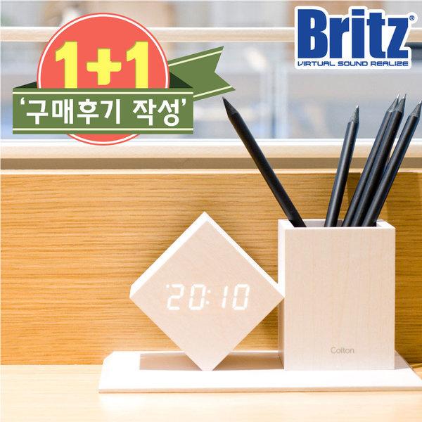 BZ-EW547 연필꽂이 탁상시계 알람 날짜 온도  화이트 상품이미지
