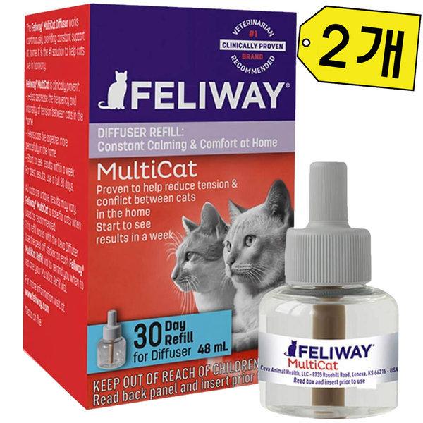 펠리웨이 멀티캣 디퓨저 리필 2개/고양이 영역표시 상품이미지
