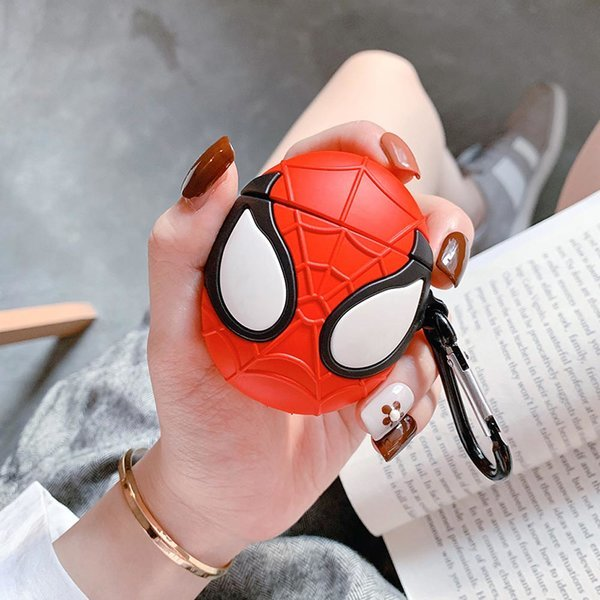 에어팟1 2세대 거미가면 실리콘 케이스 고리 키링세트 상품이미지