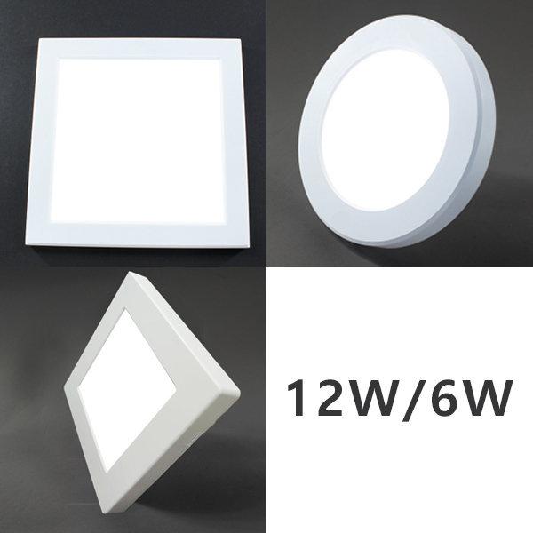 뉴스마트 LED 엣지 원형 사각 직부등 12W 6W 매입등 상품이미지