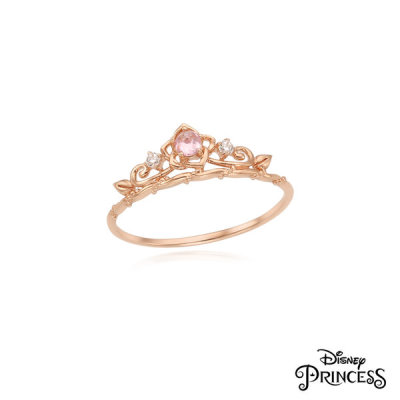 LRT19027T Beauty and the Beast Bell Princess Collaboration 10K Ring