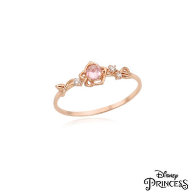 LRT19032T Beauty and the Beast Bell Princess Collaboration 10K Ring