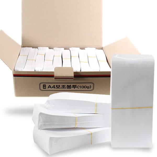 두꺼운 A4 편지봉투 무지봉투 100g 1000매 한박스 상품이미지