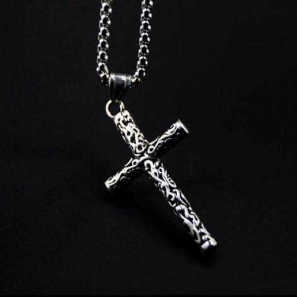 남자 티타늄 십자가 목걸이 펜던트 쥬얼리M15 상품이미지