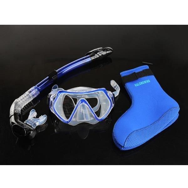 스노클링 다이빙 수경 호흡기 장비 세트 블루네오세트 상품이미지