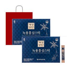 개성상인 녹용홍삼스틱 10ml 30포 1+1 / 쇼핑백 증정
