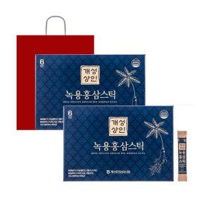 [개성인삼농협]개성상인 녹용홍삼스틱 10ml 30포 1+1 / 쇼핑백 증정