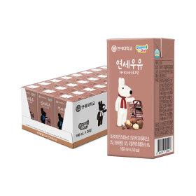 연세우유 멸균우유 마카다미아 초코우유 24팩