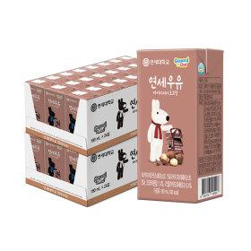 연세우유 멸균우유 마카다미아 초코우유 48팩