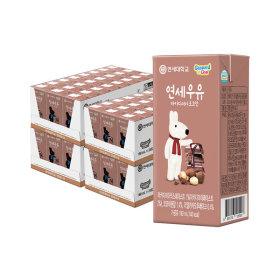 연세우유 멸균우유 마카다미아 초코우유 96팩