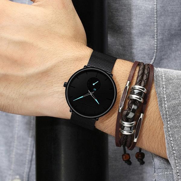 남자 손목시계 패션 커플 남성 메탈 시계 명품 여성 상품이미지