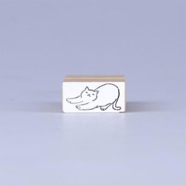 노낫네버  고양이일상 기지개 우드 스탬프 상품이미지