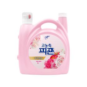 피죤 고농축 섬유유연제 리치퍼퓸 6L 핑크로즈 1개