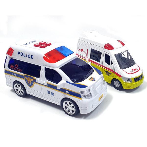 출동 112 경찰차 앰블런스 세트 장난감자동차 미니카 상품이미지