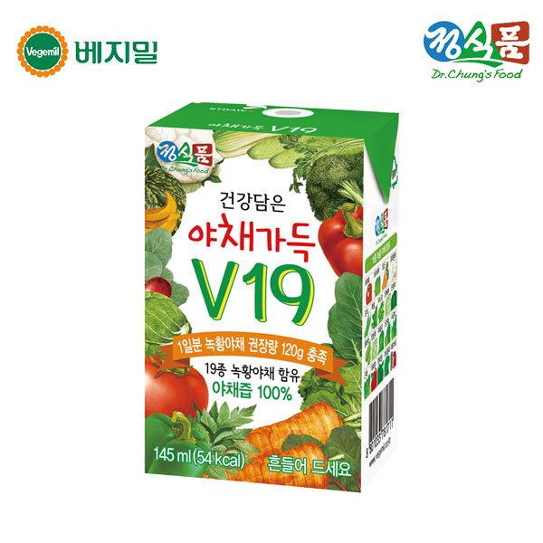 정식품 건강담은 야채가득 V19 145ml 48팩 상품이미지