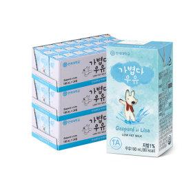 연세우유 멸균우유 가볍다 우유 72팩/저지방우유