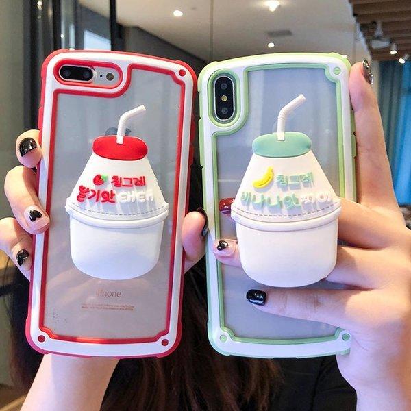 아이폰XR XS MAX 8 7플러스 바나나우유 그립톡 케이스 상품이미지