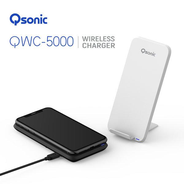 큐소닉 10W 무선충전기 QWC-5000 / 블랙 상품이미지