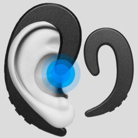 OMT 귀걸이형 블루투스 무선이어폰 OBT-B3 헤드폰 블랙