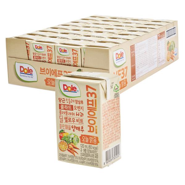Dole VF37 오늘맑음 100% 과채즙 야채주스 120ml 32팩 상품이미지