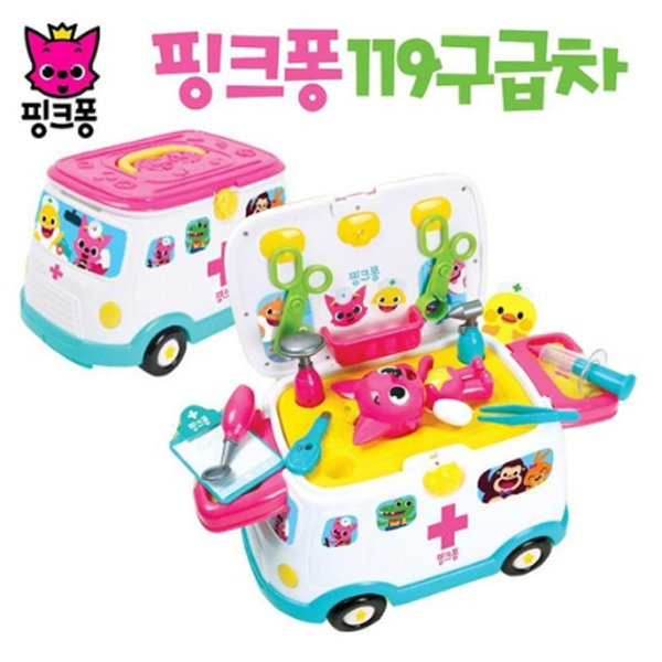 핑크퐁 119구급차 병원놀이 장난감자동차  생일선물 상품이미지